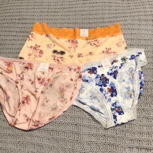Auden set of 3 panties NWT XL size 16